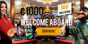 Casino Cruise: 1000eur + 100 Free Spins