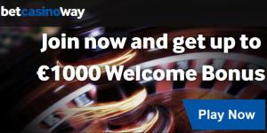 1000 euro free at Betway Casino