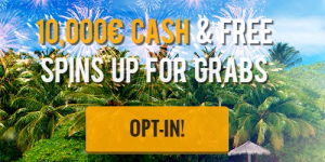 € 10,000 in bonuses and free spins at Casino Cruise!